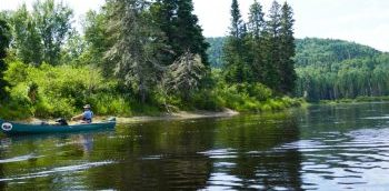 Smoking Rivers Guides on A Maine Canoe Trip